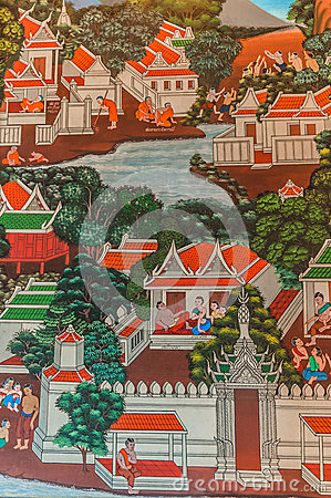 Paintings Royal palace bangkok thailand