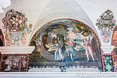 Paintings Santa Catalina monastery Arequipa Peru
