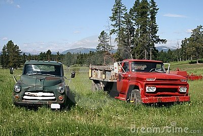 Pair of Antique Trucks