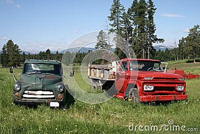 Pair of Antique Trucks