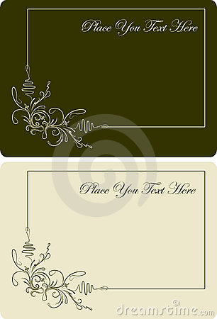 Pair of beautyful visit-cards. Vector