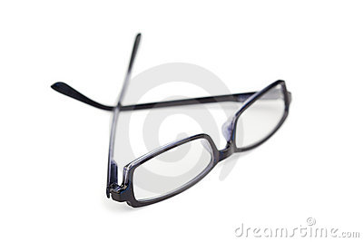 Pair of black glasses isolated