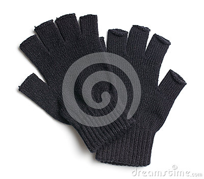 Pair of black gloves