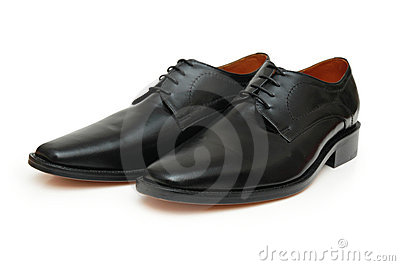 Pair of black male shoes
