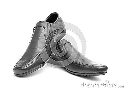Pair of black man s shoes