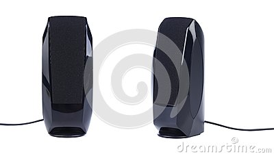 Pair of black pc speakers