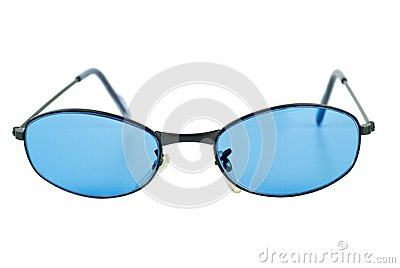 Pair of blue sunglasses