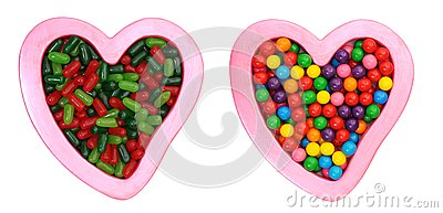 A pair of candy and love symbol