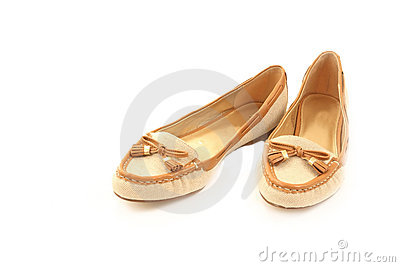 Pair of casual ladies shoes