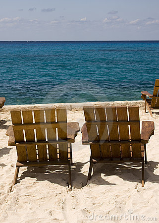 Pair of Chairs on Beach Resort