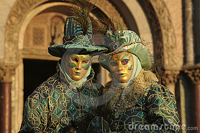 Pair of Costumed People