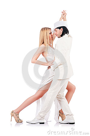 Pair dancing dances isolated