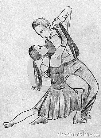 Pair Dancing Tango Stock Illustration Image 40309706