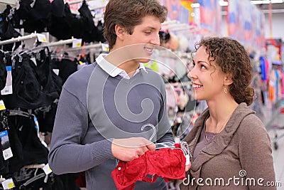Pair in department of female linen