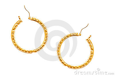 Pair of earrings isolated
