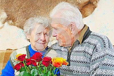 Pair elderly people