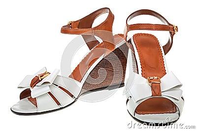 Pair of female sandals
