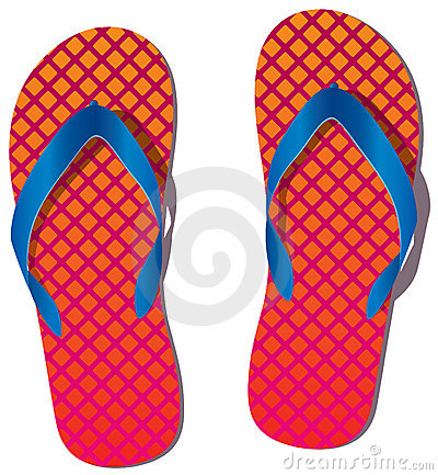 Pair of flip flops