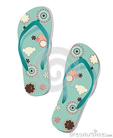 Pair of flip flops.