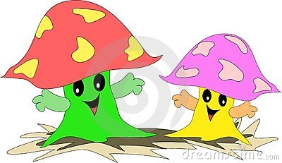 A Pair of Friendly Mushrooms