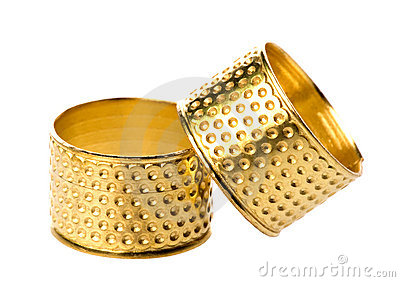 Pair of gold thimbles