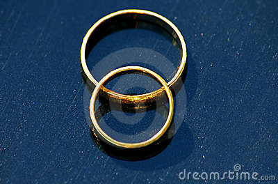 Pair of gold wedding rings