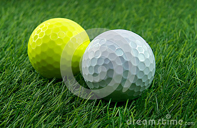 A pair of golf balls