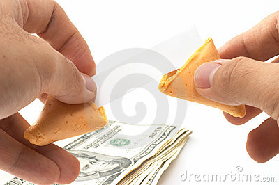 Pair of hands opening a fortun