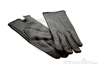 Pair leather gloves