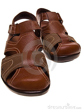 Pair of leather sandals
