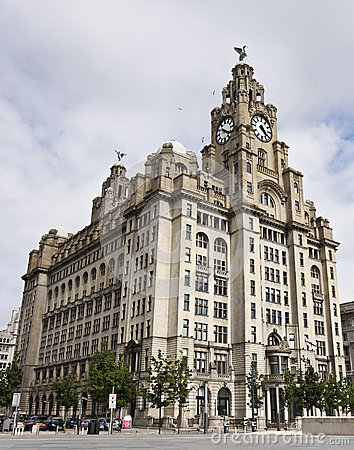 A Pair of Liver Birds on the Royal Liver Building Editorial Stock Image