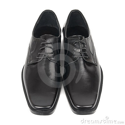 Pair of man s black shoes
