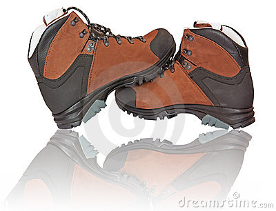 Pair of mountain boots