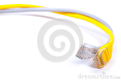 Pair of network LAN cables