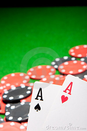 Free Pair Of Aces Royalty Free Stock Images - 16266419