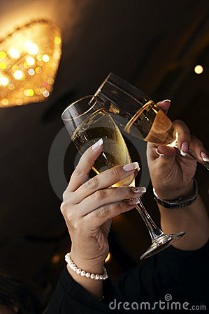 Free Pair Of Champagne Flutes Stock Photos - 1700173