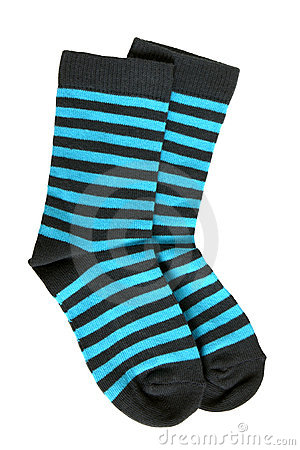 Free Pair Of Child S Striped Socks Royalty Free Stock Photo - 19218015