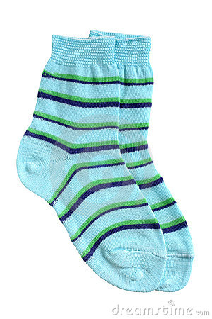 Free Pair Of Child S Striped Socks Royalty Free Stock Images - 22045639