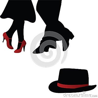 Free Pair Of Dancers Stock Image - 14387151