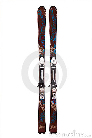 Free Pair Of Mountain Skis Stock Images - 11740334