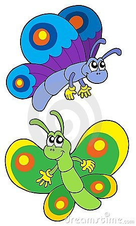 Free Pair Of Smiling Butterflies Royalty Free Stock Photos - 6076078
