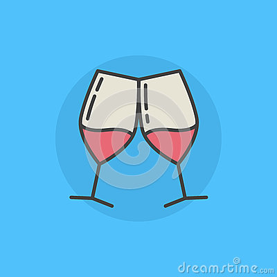 Free Pair Of Wine Glasses Icon Royalty Free Stock Photo - 83178315