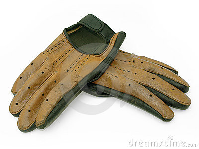 Pair of old driving gloves