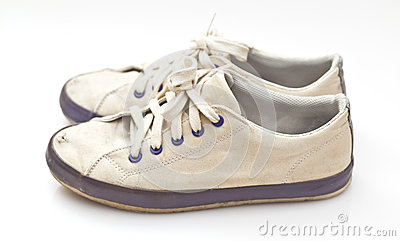 A pair of old sport shoes