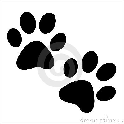 A pair of paw prints
