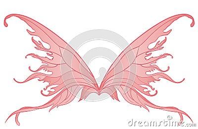 Pair of pink fairy wings
