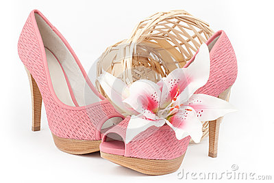 pair of pink shoes stock photo image 40558143