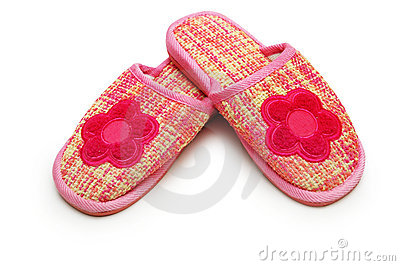 Pair of pink slippers