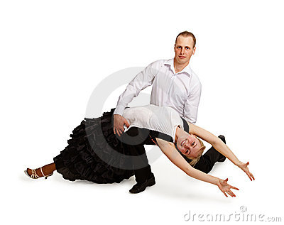 A pair of professional dancers