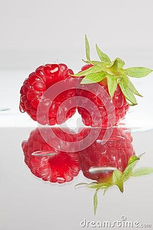 Pair of raspberries